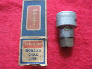 Vintage 1930and039s-40and039s Schrader B052-12 Air Hose Check Unit New Old Stock