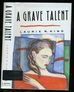 King, Laurie A Grave Talent Signed Hb/dj 1st/1st