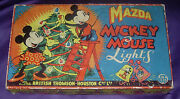 Mazda Mickey Mouse Christmas Lights Large 12-light Box Only Disney 1930and039s