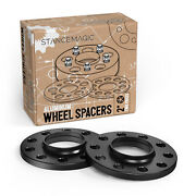 12mm 1/2in   Hubcentric 5x114.3 Black Wheel Spacers For Lexus Toyota   60.1mm