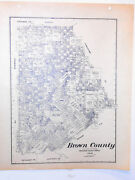 Old Brown County Texas Land Office Owner Map Brownwood Early Bangs Blanket May