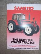 1987 Same 110 High Power Tractor Color Promo Ad Specifications Features S