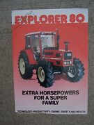 1987 Same Explorer 80 Tractor Color Promo Ad Specifications Features Italy S