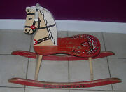 Gabby Hayes Cottontail Rocking Horse C. 1950and039s Rare