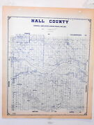 Old Hall County Texas Land Office Owner Map Memphis Turkey Estelline Lakeview