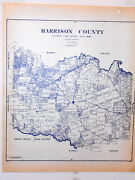 Old Harrison County Texas Land Office Owner Map Marshall Hallville Norwood Leigh