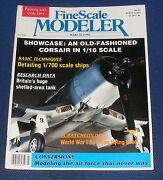 Finescale Modeler Magazine March 1990 - An Old Fashioned Corsair In 1/16 Scale