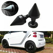 2 Black Front Or Rear Bumper Protector Spikes Guards Protectors For Smart Car