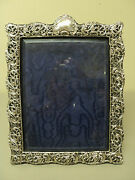 Antique English Embossed Picture Frame, Sterling Silver 12.75 X 10.25 C. 1901