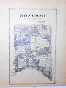 Old Titus County Texas Land Office Owner Map Mount Pleasant Millerand039s Cove Talco
