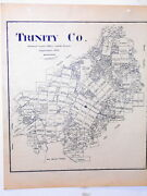 Old Trinity County Texas Land Office Owner Map Groveton Apple Springs Sumpter