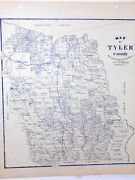 Old Tyler County Texas Land Office Owner Map Woodville Ivanhoe Emilee Colmesneil