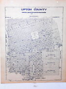 Old Upton County Texas Land Office Owner Map Rankin Mccamey Midkiff China Lake