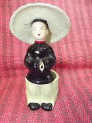OLD California Pottery Oriental Man Planter