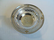 Vintage Watson Sterling Silver Pierced Decorated 5.5 Candy Dish / Bowl