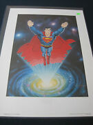 Superman Lithograph Signed By Comic Legend Curt Swan 36/2500