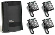 Toshiba Cix40 4x8 Phone System Package Bundle With Voicemail And 4 Phones Refurb