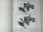 Orig. John Deere 3232a 321 338 Lawn Tractor Snow Thrower Parts Catalog Manual