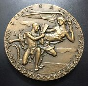 Knowledge And Culture / National Library Portugal /bronze Medal By Rebandocirccho / M79