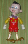 Walt Disneyand039s Pinocchio Ideal Wood And Composition Figure C. 1939 10.5