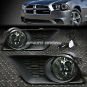 For 11-14 Dodge Charger Smoked Lens Bumper Driving Fog Light Lamp W/bezel+switch