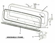 Windshield Glass And Seal Package 1987-95 Jeep Wrangler Yj Glass And Glass Seal, New