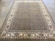 6and039 X 9and039 Black Beige Fine Geometric Oriental Area Rug Wool Hand Knotted Foyer