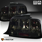 Fits 2005-2009 Ford Mustang Smoke Sequential Turn Signal Tail Lights Brake Lamps