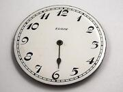 Elgin White 42.43mm Numeral Markers Watch Dial For Pocket Watches Vintage Nos