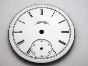 Watch Dial For Pocket Watches White 34mm Black Roman Numeral Mrkrs Vintage Elgin