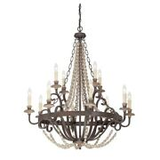 Savoy House Mallory 12 Light Chandelier Fossil Stone - 1-7405-12-39