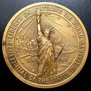 Us Capitol 1865-1965 / Centennial Of The Statue Of Liberty / Bronze Medal / M93