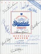 Rare Nixon All Time Baseball Greats Signed With 12 Original Famous Signatures