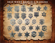 20 Assorted Old West Western Badges,star,vintage,collectible, You Pick Styles