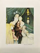 Norman Rockwell Benand039s Belles 1973   Hand Signed Print   Poor Richardand039s Almanac