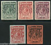 Falkland Islands Scott36/40 Stanley Gibbons 66/69 And 67a Mint Lh