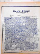 Old Mason County Texas Land Office Owner Map Ft. Mason Loyal Valley Schreiner