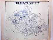 Old Burleson County Texas Land Office Owner Map Caldwell Somerville Lyons Snook