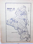 Old Brazos County Texas Land Office Owner Map Bryan College Station Millican