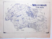 Old Williamson County Texas Land Office Owner Map Round Rock Georgetown Leander