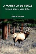 Matter Of De Fence By Bruce Barber English Paperback Book Free Shipping