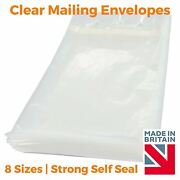 Clear Mailing Plastic Polythene Mailing Packaging Bags Envelope Strong Self Seal