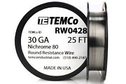 Temco Nichrome 80 Series Wire 30 Gauge 25 Ft Resistance Awg Ga