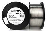 Temco Nichrome 80 Series Wire 30 Gauge 1 Lb 3496ft Resistance Awg Ga