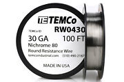 Temco Nichrome 80 Series Wire 30 Gauge 100 Ft Resistance Awg Ga