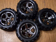 4 New Traxxas Vxl Brushless 6708 Stampede 4x4 Talon Tires And Wheels Tire Wheel