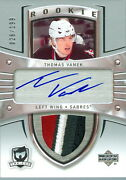 2005-06 The Cup Thomas Vanek Rookie Rc 4 Colour Jersey Number 26/199 1/1 Wings