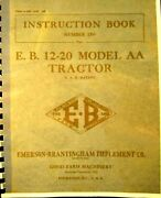 Emerson-brantingham Instructions For N0. 250 -e-b-12-20 Model Aa Tractor