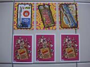 2014 Wacky Packages Series 1 Ans 12 Complete Set Three Lost Wacky Bonus Cards