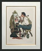 Norman Rockwell Ye Pipe And Bowl 1976   Hand Signed And Numbered   Coa   Framed